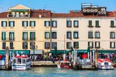 Promenade in Venice, Italy, viewed from lagoon Stock Photos