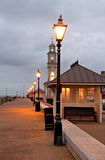 Promenade victorian lamp posts Stock Image
