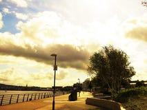 Promenade. View of the river walk Stock Image