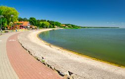 Promenade of village Nida, Curonian Spit, Baltic sea, Lithuania royalty free stock images