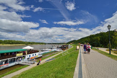Promenade on the Vistula River in Kazimierz Dolny in Poland. Royalty Free Stock Photography