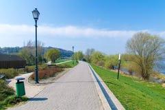Promenade on the Vistula River in Kazimierz Dolny. Poland Stock Images