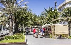 Promenade von Sta Eularia Lizenzfreies Stockfoto