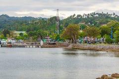 Promenade, vue de l'eau photographie stock