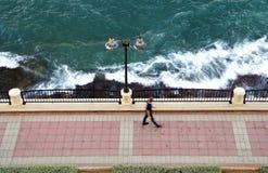 Promenade walk at the Mediterranean Sea Royalty Free Stock Photo