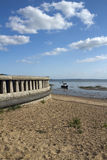 Promenade wall at Jubilee Beach, Southend-on-Sea, Essex, England Stock Photography