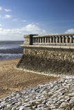 Promenade wall at Southend-on-Sea, Essex, England Royalty Free Stock Images