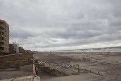Promenade wurde weg während des Hurrikans Sandy gewaschen Lizenzfreies Stockbild