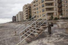 Promenade wurde weg während des Hurrikans Sandy gewaschen Lizenzfreie Stockbilder