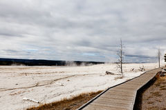 Promenade in Yellowstone Lizenzfreie Stockfotos