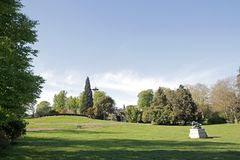 Promenaden av Parcen Montsouris, Paris trädgård (Paris Frankrike) Arkivbild