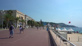 Promenaden-DES Anglais in Nizza Frankreich stock video footage