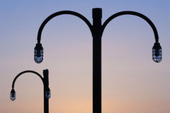 Promenaden-Lampen Stockfoto