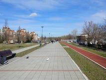 Promenaden-Strang in Novi Sad, Serbien lizenzfreies stockfoto
