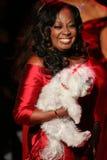 Promenades de Jones d'étoile la piste au rouge d'aller pour la collection rouge 2015 de robe de femmes Photos stock