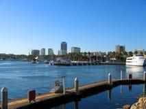 Promenades door Oeverdorp, Regenbooghaven, Long Beach, Californië Royalty-vrije Stock Afbeelding