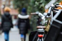 Promenades latérales d'Amsterdam Photographie stock