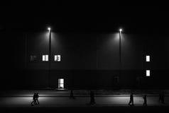 Promenades sous les lumières Photos libres de droits