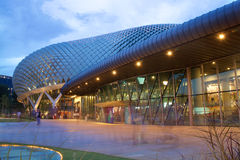 Promenadteater på fjärden i Singapore Arkivfoton