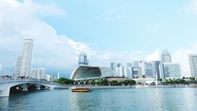 Promenadteater, Singapore Royaltyfria Foton