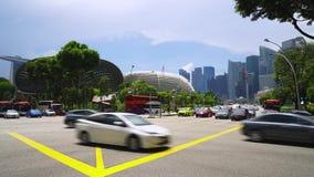 Promenadväggenomskärning i Singapore lager videofilmer