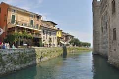 Promendade in Sirmione Royalty Free Stock Image
