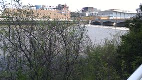 Promenera floden Arkivfoton