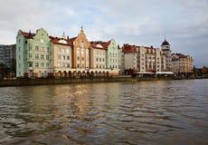 Promenera promenaden Kaliningrad arkivbilder