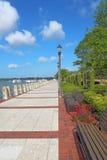 Promenieren Sie auf der Ufergegend von Beaufort, South- Carolinavertikale Stockfoto