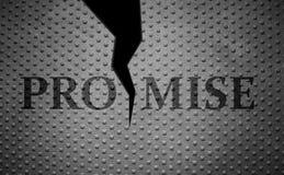 Promesas quebradas Foto de archivo libre de regalías