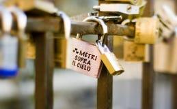 Promess in vecchio del ponte. Cielo dell'IL di sopra di Metri. Immagini Stock Libere da Diritti
