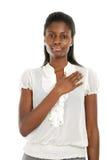 Promesse de jeune femme Image stock