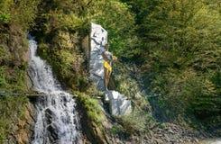 Prometheus的纪念碑在博尔若米的矿泉水公园 佐治亚 免版税库存照片