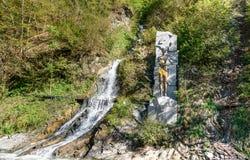 Prometheus的纪念碑在博尔若米的矿泉水公园 佐治亚 免版税库存图片