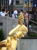 Prometheus雕象在洛克菲勒中心的 免版税库存图片