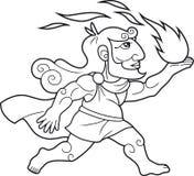 PROMETHEUS de dios trae a gente del fuego stock de ilustración