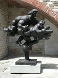 Prometheus and eagle statue near Pretorian Palace in Prato Royalty Free Stock Images