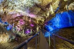 Prometheus-grotta, Kutaisi royaltyfria bilder