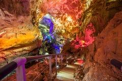 Prometheus-grotta, Kutaisi royaltyfri foto