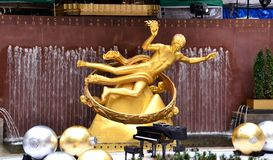 Prometheus in Rockefeller Center Royalty Free Stock Photo