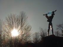 PROMETHEUS-Statue an Vidraru-Verdammung Lizenzfreies Stockbild