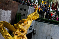 Prometheus-statyn på Rockefeller centrerar, NYC Fotografering för Bildbyråer