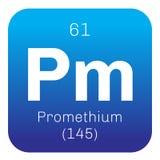 Promethium chemical element Stock Photography