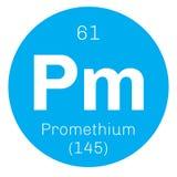 Promethium chemical element Royalty Free Stock Photos