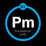 Promethium chemical element Royalty Free Stock Photography