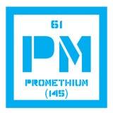 Promethium chemical element Royalty Free Stock Images