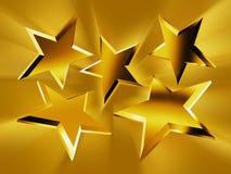 promień złociste gwiazdy ilustracja wektor