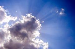 promień chmury Zdjęcia Royalty Free