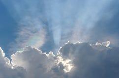 Promień przez chmur Fotografia Royalty Free