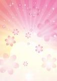 Promieni kwiaty royalty ilustracja